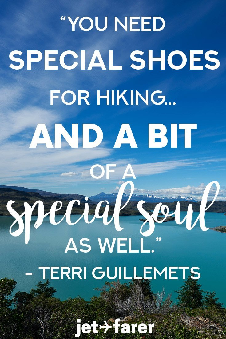 A hiking quote by Terri Guillemets.