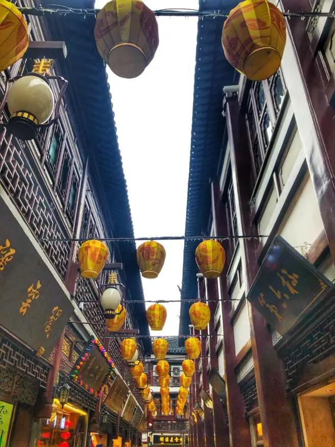 Chinese lanterns in Shanghai