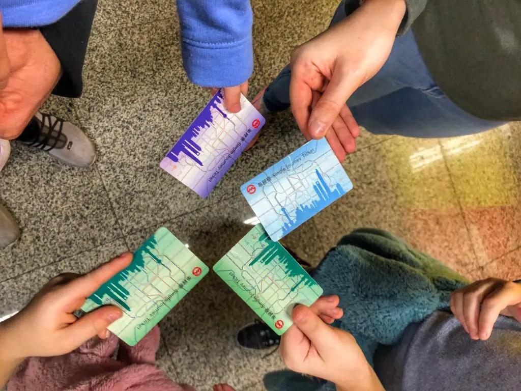 Shanghai metro tickets