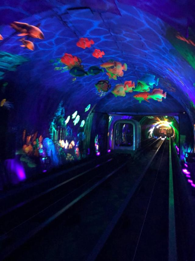The bund sightseeing tunnel. Fun things to do with kids in Shanghai.