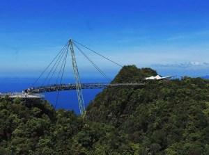 Langkawi Sky Bridge over looking the Andaman Sea