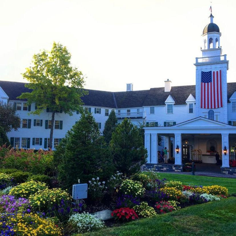 Sagamore Resort, white with US flag, best road trip USA