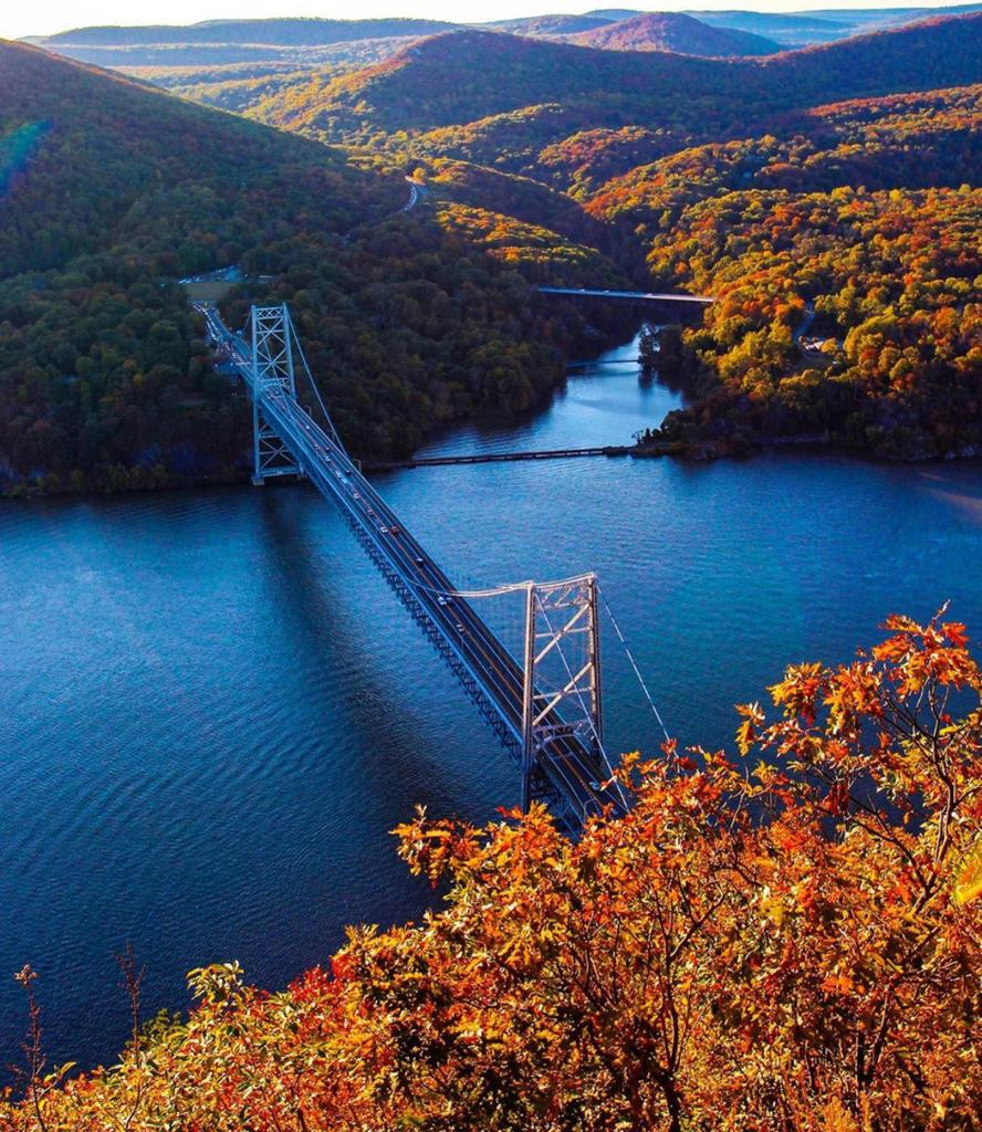 Fall trees at Bear Mountain State Park New York State