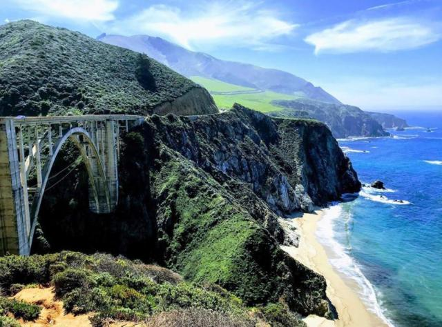 Bridge over the ocean in California to show a road trip for road trip packing list.
