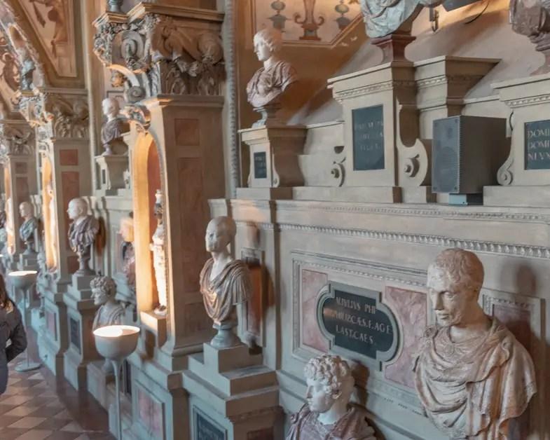 Statues inside of Munich Residenz