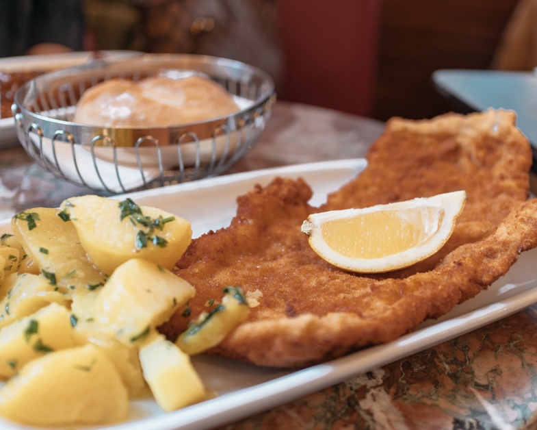 The Wiener schnitzel from Cafe Ritter and place you must eat with one day in Vienna