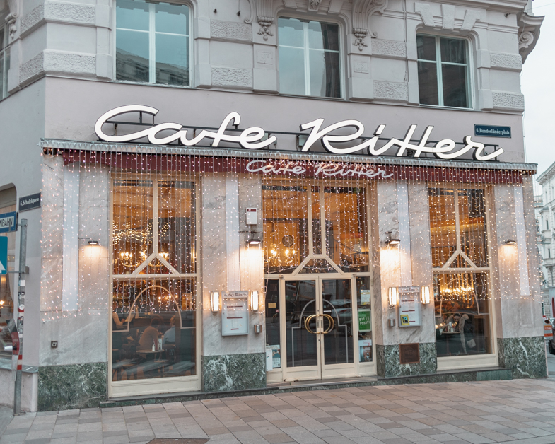 Outside of Cafe Ritter