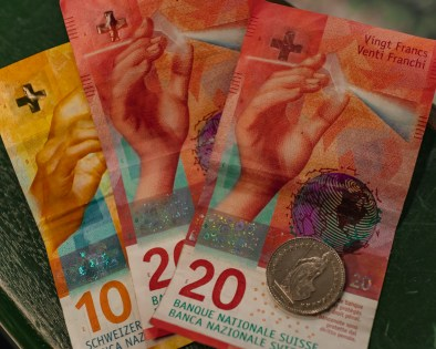 Picture of Swiss francs