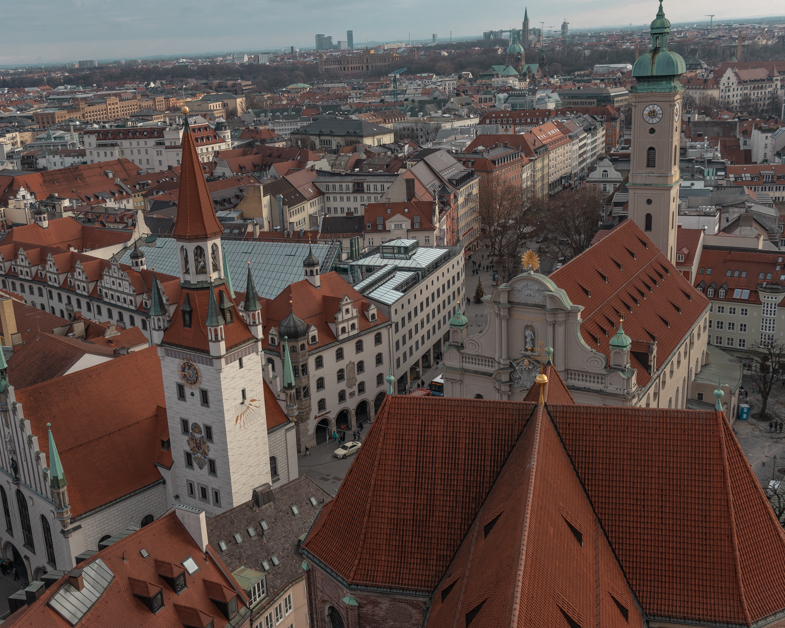 View of Munich from the St. Peter's Tower
