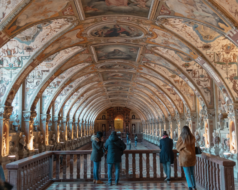 hallway inside the Munich Residenz