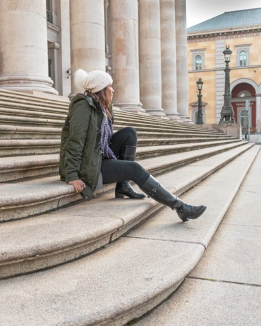 Me posing on the steps at National Theatre Munich