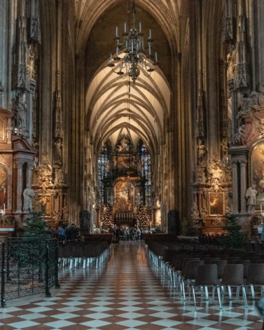 Inside of St. Stephen's Cathedral a staple to see if spending one day in Vienna