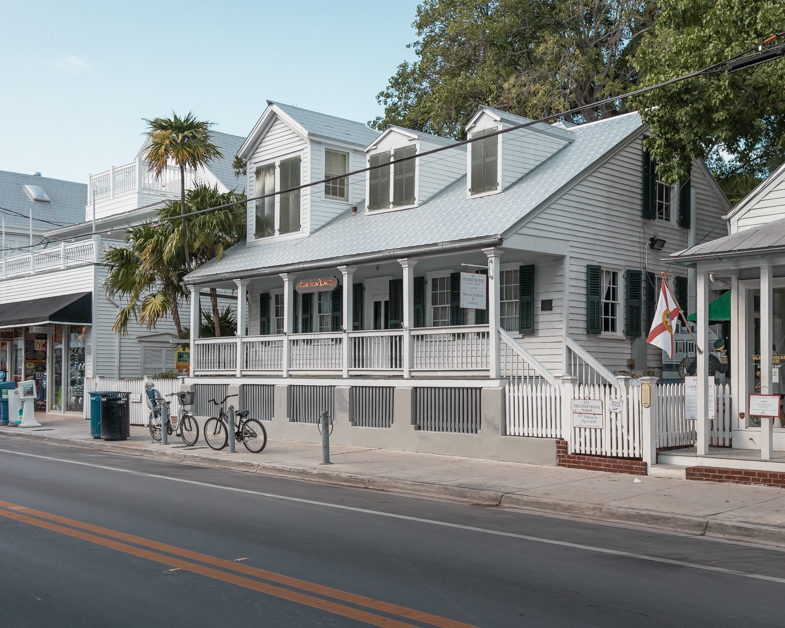 Picture of an adorable house off of Duval Street in Key West.