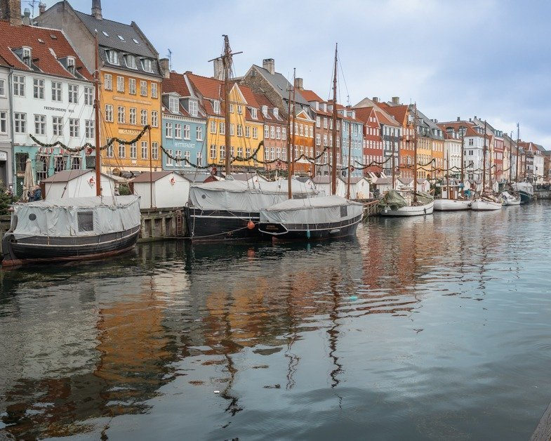 Picture of Nyhavn Canal painted houses one of the things to see spending one day in Copenhagen.