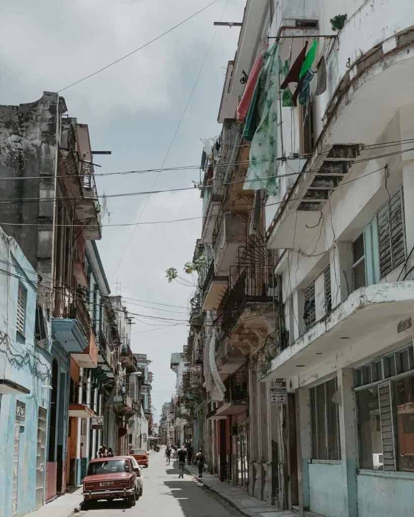 one of the alleys in Old Havana