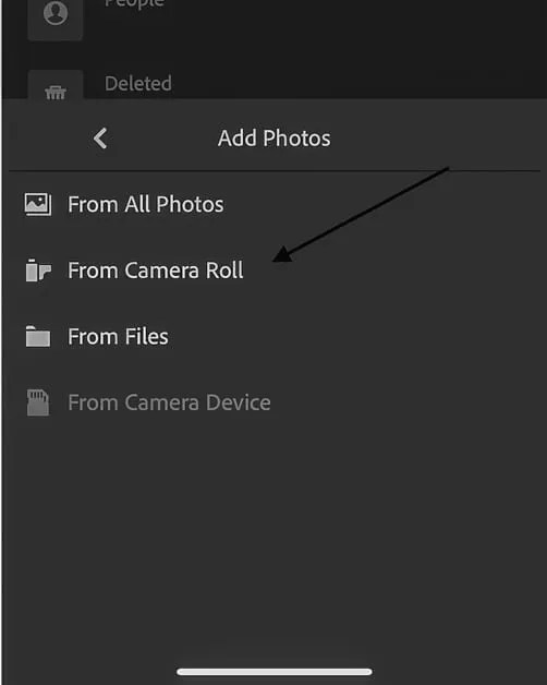 Picture of how to import the free travel Lightroom presets in Lightroom CC mobile.