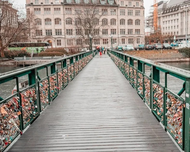 Picture of the Limmat River in Zurich one of the best solo female travel destinations