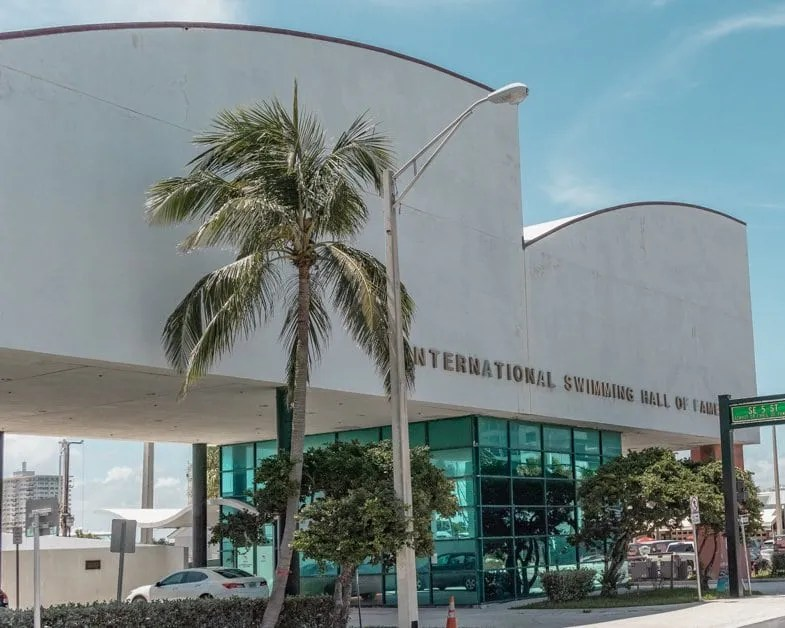 Exterior of the International Swimming Hall of Fame.