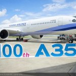 Airbus delivers its 100th A350 XWB
