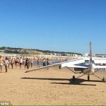 Two sunbathers killed as light plane lands on beach
