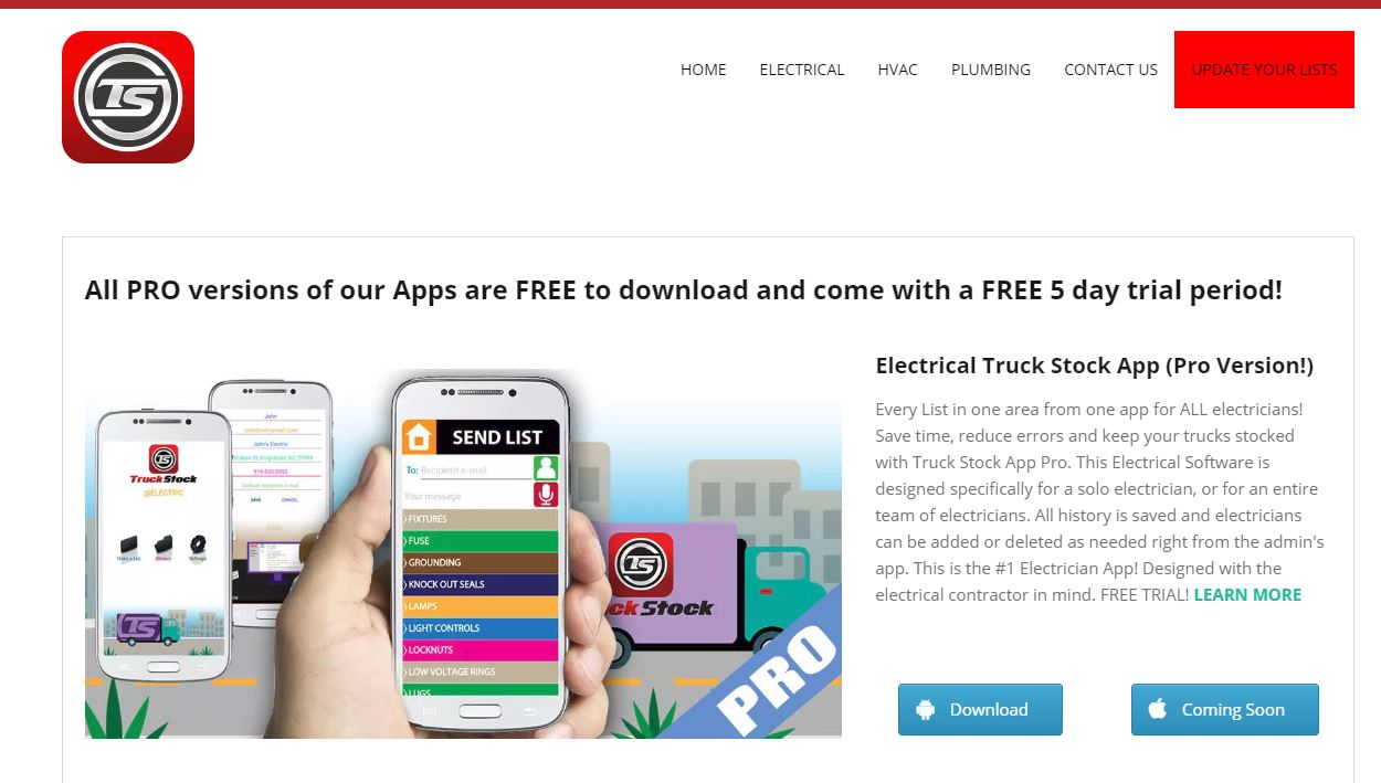 trucks stock app, truck stock software