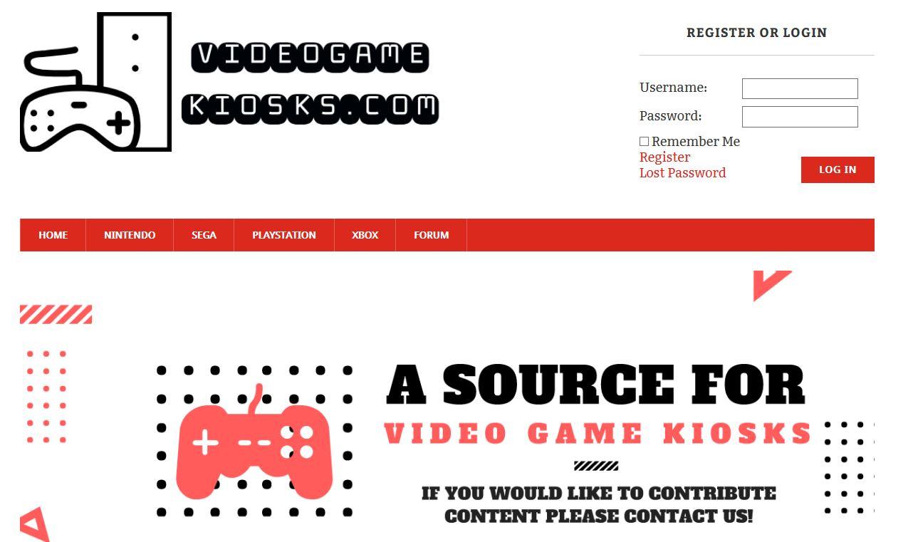 video game kiosks, gaming kiosks