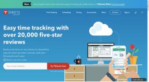 Image of TSheet's website