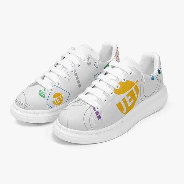 Print On Demand AOP Lifestyle Leather Sneakers