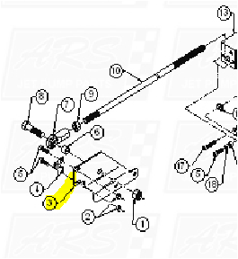 Control Rod Brackets fit HTRII RSK2101-R1007 — Fig. No. 3