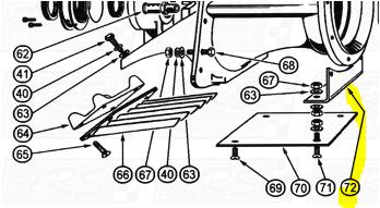 Cavitation Plate Brackets fit OEM Legend 120E — Fig. No