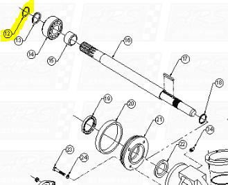 Shaft Snap Rings fit AT309-B1007 — Fig. No. 12 > AT 309