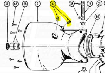 Oil Reservoir Pipe Plug fit Berkeley 12JC — Fig. No. 52 > 12JC