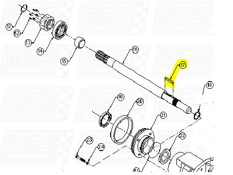 Impeller Keys fit Dominator 12TD-HP — Fig. No. 17 > 12TD