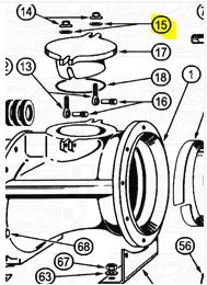 Hand Hole Washers fit OEM Legend 120E — Fig. No. 15 > OEM 120E