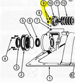 Packing Gland Nuts fit OEM Legend 120G — Fig. No. 9 > OEM 120G