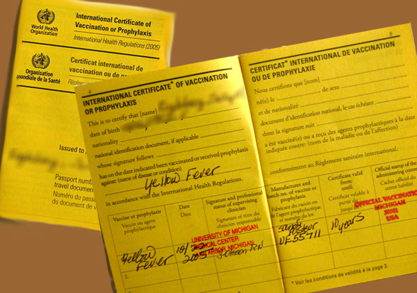 International Yellow Fever Vaccination Card