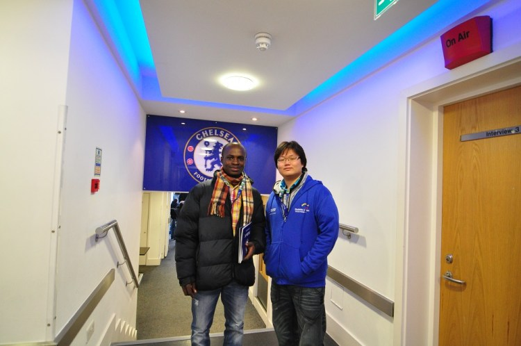 Akesse Sanza at Stamford Bridge