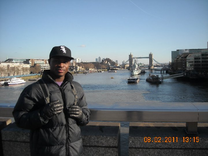 Akesse Sanza at River Thames in 2011 PHOTO: Akesse Sanza