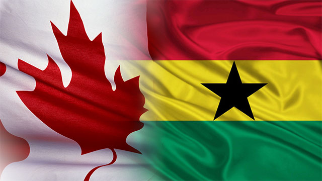 Canada and Ghana Flags