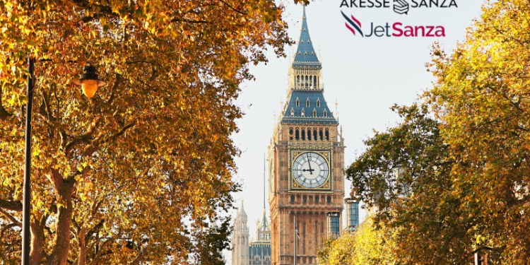 Palace of Westminster and Big Ben in sunny autumn day, London, The United Kingdom of Great Britain and Northern Ireland
