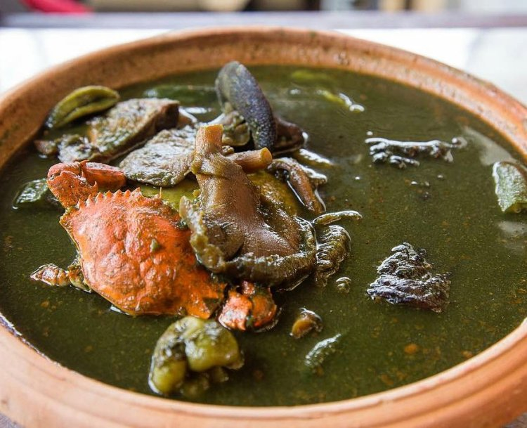 Ebunu Ebunu Soup (Cocoyam Leaves Soup)
