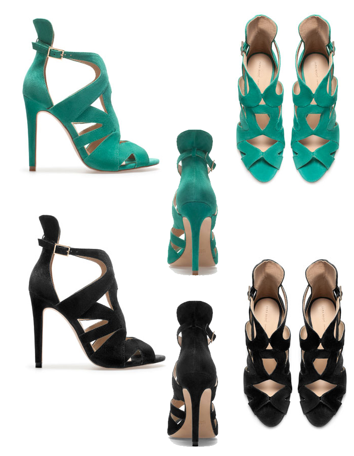 Zara strappy high heels