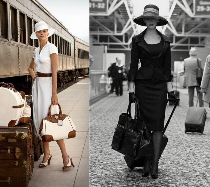 Elegant travel outfit