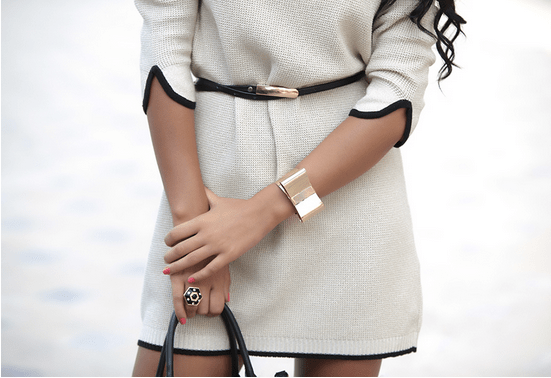 White street style outfit