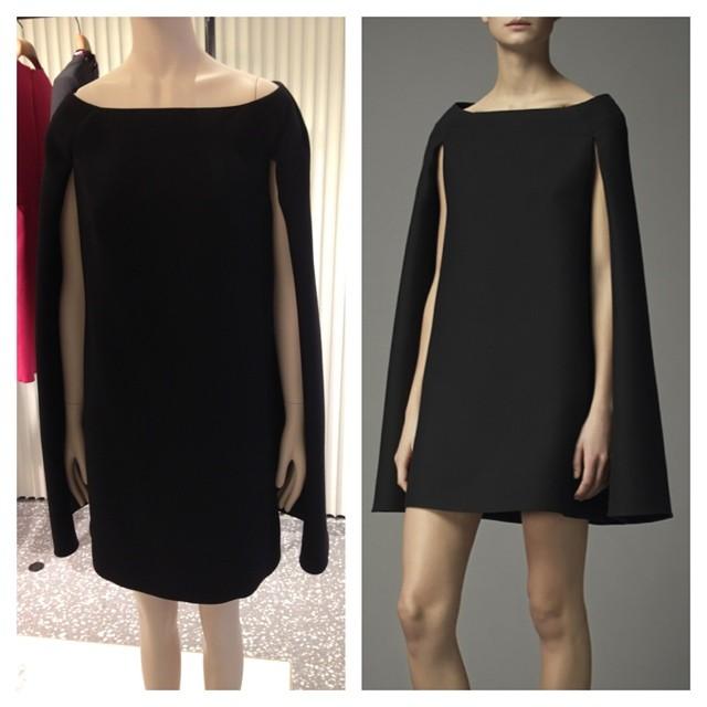 Valentino Black Assymetric Dress