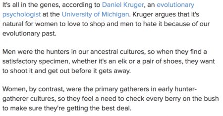 Why women like to shop and men don't