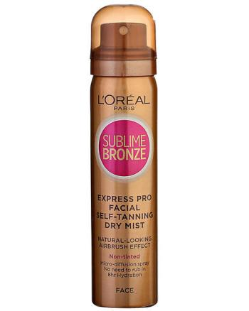 Loreal Sublime Bronze Fake Tan Spray for Face
