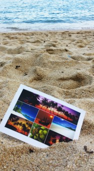 Couldn't resist writing a postcard on the beach before heading to Bangkok from Koh Samui