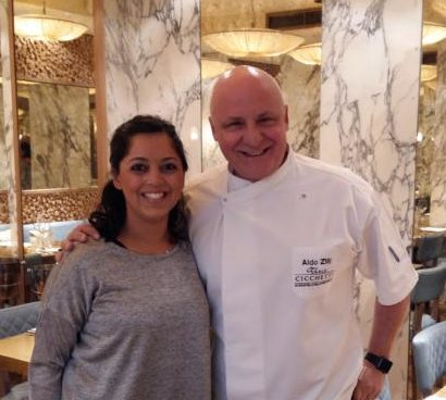 With Aldo Zilli at Cicchetti Covent Garden