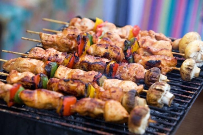 Fresh grilled food at Tatton Park Foodies Festival Manchester